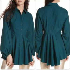 Free People Front Button Tunic Long Sleeve Sz M